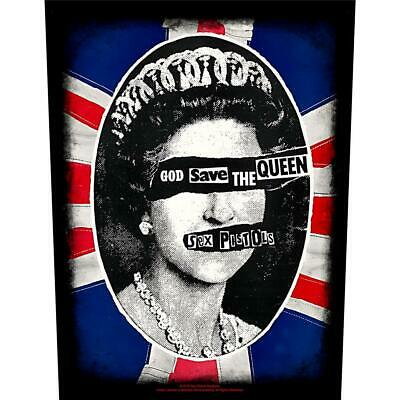 Official Licensed - Sex Pistols - God Save The Queen Back Patch Punk Lydon • 9.99£
