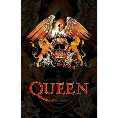 Official Licensed - Queen - Crest Textile Poster Flag Rock Freddie Mercury • 18.99£