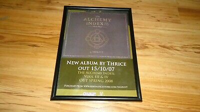 THRICE-framed Original Press Release Promo Poster  • 12£