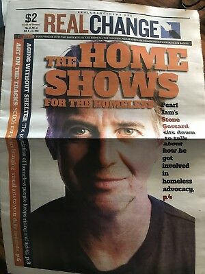 Real Change Newspaper Stone Gossard Pearl Jam Seattle 2018 The Home Shows H17 • 28.58£