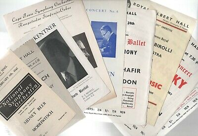 CLASSICAL Programmes & Posters 1918, 1940s 1950s 1960s Ephemera From £3 See List • 15£