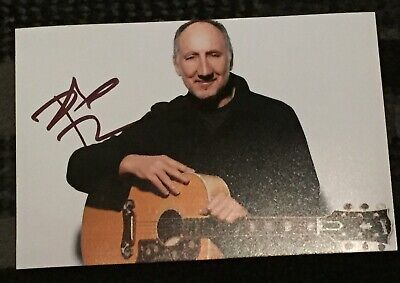 Pete Townshend Signed 6x4 Photo The Who Memorabilia Autograph #3 • 29.99£
