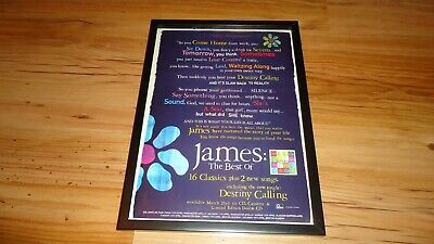JAMES The Best Of-framed Original Press Release Promo Advert • 12£