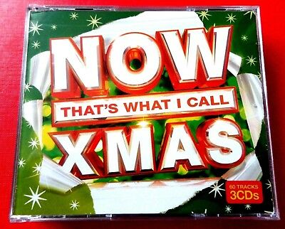 NOW THAT'S WHAT I CALL XMAS -  3 X CD *EX+/ NM* THE WAITRESSES, ABBA,GREG LAKE • 4.95£
