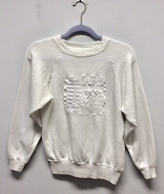 "Rare Original 1980s Duran Duran Sweatshirt In White 38"" • 99£"