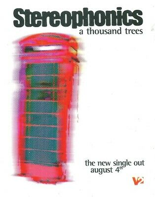 STEREOPHONICS - Rare - A Thousand Trees - Window Sticker  Ex Condition • 6.79£