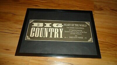 BIG COUNTRY Heart Of The World-framed Original Press Release Promo Advert • 12£