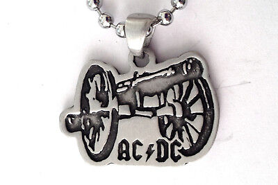 Ac/dc Canon Heavy Metal Rock Pendant Mens Boys Necklace Chain    Bpc 083 • 6£