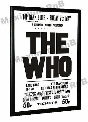 The Who Concert Poster Top Rank Sunderland 1971 • 14.95£