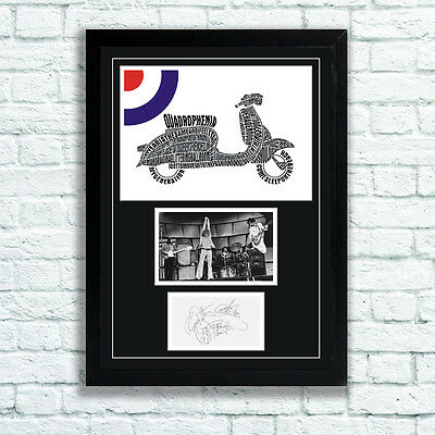The Who Quadrophenia Memorabilia Autographs And Poster Townshend MOD UNFRAMED • 10.95£