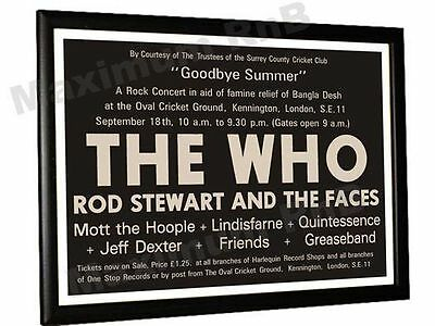 The Who Rod Stewart Greaseband Concert Poster Oval London 1971 • 9.95£