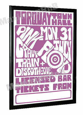 Pink Floyd Concert Poster Torquay Town Hall 1967 • 14.95£
