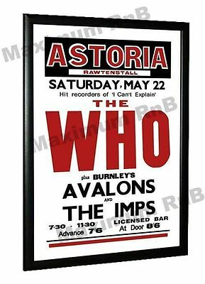 The Who The Avalons Concert Poster Rawtenstall Astoria, 1965 • 5.95£