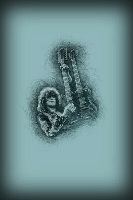 Jimmy Page Poster Or Canvas - Led Zeppelin Robert Plant - 3 Sizes • 14.95£