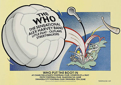 The Who Put The Boot In Tour Poster 1976 Charlton Swansea Glasgow • 14.95£