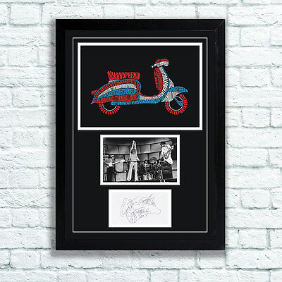 The Who Quadrophenia Autographs Memorabilia Poster Keith Moon Townshend UNFRAMED • 7.95£