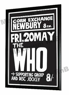 The Who Concert Poster Newbury Corn Exchange 1966 • 9.95£