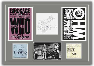 The Who  - Autographs, Tickets, Concert Posters Memorabilia Poster UNFRAMED • 7.95£