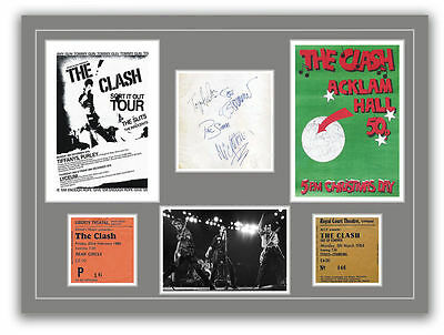 The Clash  - Autographs, Tickets, Concert Posters Memorabilia Poster UNFRAMED • 10.95£