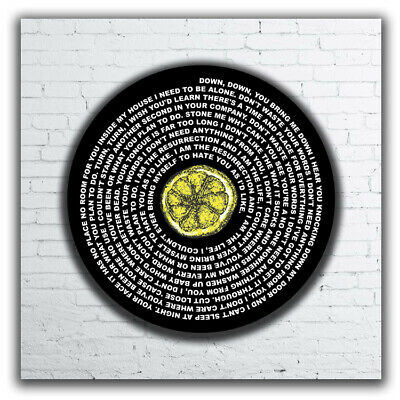 Stone Roses Ian Brown Canvas Or Poster Made Up Of Song Lyrics  Ressurection • 32£