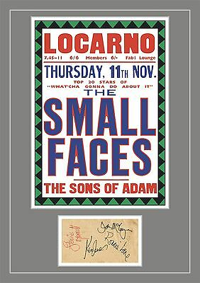 The Small Faces Concert Poster & Autographs Memorabilia Poster UNFRAMED • 10.95£