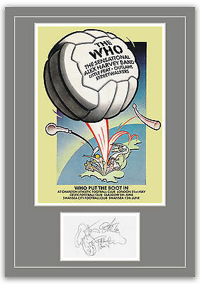 The Who Charlton 1976 Concert Poster And Autographs Memorabilia Poster  UNFRAMED • 10.95£