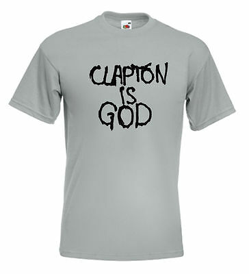Clapton Is God T Shirt Eric Clapton Graffiti Cream Jack Bruce Ginger Baker • 10.95£