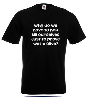 Pulp T Shirt  Jarvis Cocker Party Hard Why Do We Have To Half Kill Ourselves.... • 10.95£