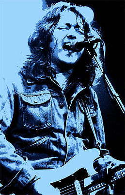 Rory Gallagher Mounted Canvas • 32.99£