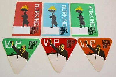 Green Day 2004 Set Of 6 Backstage Passes • 15.63£