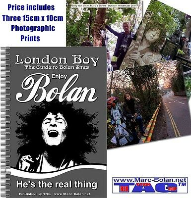 Essential Marc Bolan Guide Book To London Sites 60 Pages Bolan Shrine Fundraiser • 3£