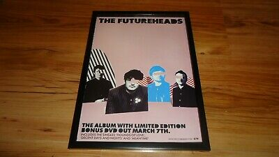 THE FUTUREHEADS-framed Original Press Release Promo Advert • 12£