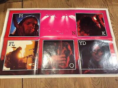 Rare Pink Floyd Dark Side Of The Moon Poster 1977 • 100£