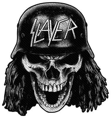 Official Licensed - Slayer - Wehrmacht Skull Sew On Patch Thrash Metal • 4£