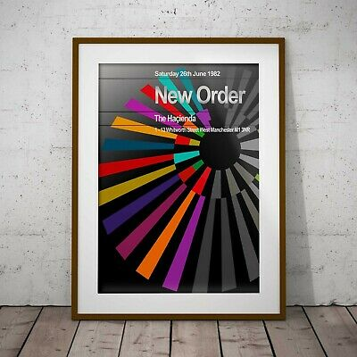 New Order First Hacienda Gig Three Print Options Or Two Framed Options NEW • 11.99£