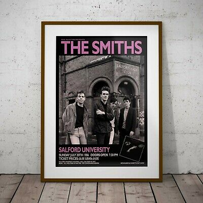 The Smiths 1986 Salford Concert Poster Framed Or 3 Print Options EXCLUSIVE 2020 • 11.99£