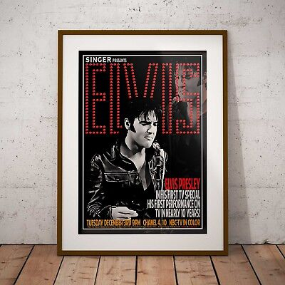Elvis Presley 1968 TV Special Poster Framed Or 3 Print Options NEW EXCLUSIVE • 16.99£