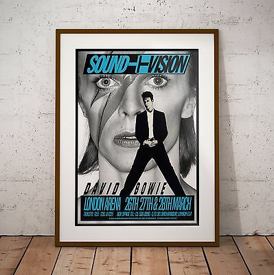 Bowie Sound & Vision Tour London Arena Three Print Options Or Framed Poster NEW • 34.99£
