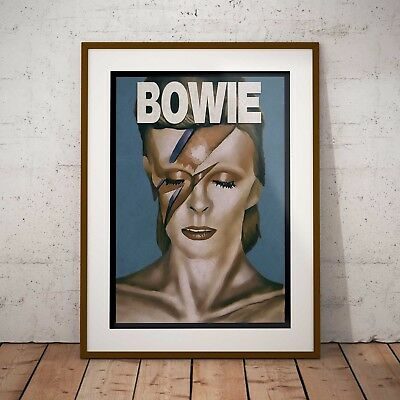 David Bowie Aladdin Sane Art Three Print Option Or Framed Prints Or Poster NEW • 34.99£