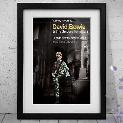 David Bowie Ziggy Last Concert Three Print Options Or A3 Framed Poster NEW • 34.99£