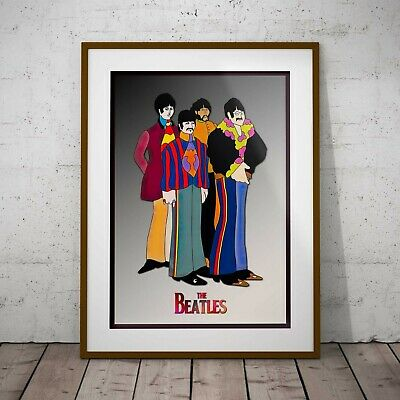 The Beatles Yellow Submarine Poster Framed Or Three Print Options NEW EXCLUSIVE • 39.99£