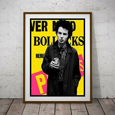 Sid Vicious Sex Pistols Punk Poster Framed Or Three Print Options EXCLUSIVE 2020 • 39.99£