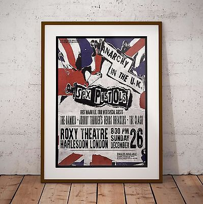 Sex Pistols 1976 First UK Tour Concert Poster Framed 3 Print Options EXCLUSIVE • 39.99£