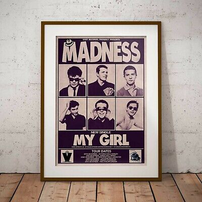 Madness 1979 Early Concert Three Print Options Or Framed Poster EXCLUSIVE • 16.99£