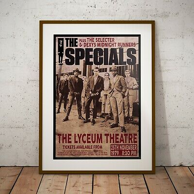 The Specials 1979 Early Concert Poster Framed Or Three Print Options EXCLUSIVE • 6.99£