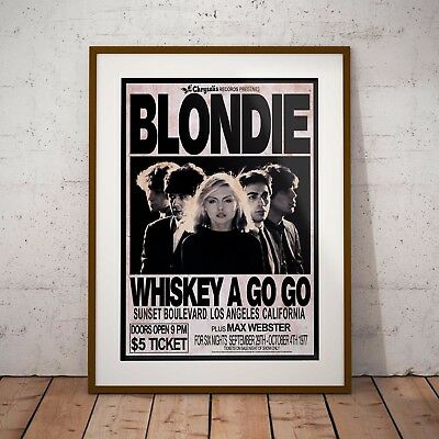 Blondie 1977 Early Concert Three Print Options Or Framed Poster NEW Exclusive • 6.99£
