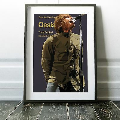 Oasis - Their Last Concert Poster Print Olivia Valentine NEW Exclusive • 11.99£