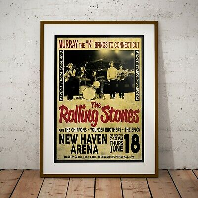 The Rolling Stones 1964 Early USA Concert Poster Framed Or 3 Print Options NEW • 6.99£