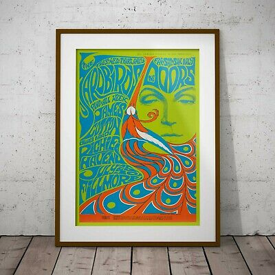 The Doors & The Yardbirds Concert Poster Framed Or 3 Print Options NEW EXCLUSIVE • 39.99£