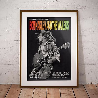 Bob Marley 1973 The London Speakeasy Gigs Poster Print Three Sizes NEW Exclusive • 11.99£